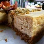 Brett & Bailey: White chocolate & passion fruit cheesecake